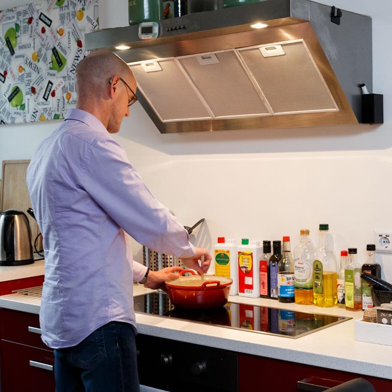 Ruud Boersma in de keuken